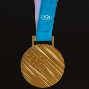 olympic medal on ribbon